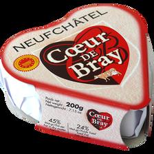Neufchâtel AOP au lait pasteurisé, COEUR DE BRAY, 24% de MG, 200g