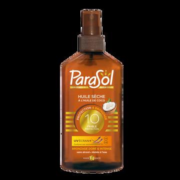 Parasol Huile Sèche À L'huile De Coco Indice 10 Parasol Flacon 200ml