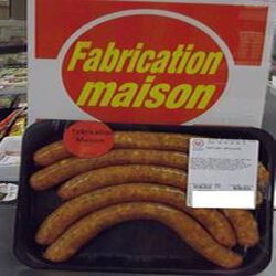 saucisses antillaises x 5 FABRICATION MAISON 0.350 kg env