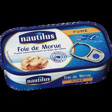 Foie de morue fumé NAUTILUS, 1/4, 120g