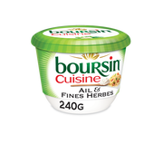 Boursin Fromage Pasteurisé Ail Et Fines Herbes Boursin Cuisine, 19%mg Pot 240g