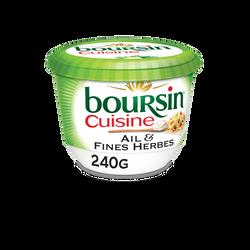 Fromage pasteurisé ail et fines herbes BOURSIN Cuisine, 19%MG pot 240g