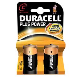 2 Piles LR14 C Plus Power DURACELL