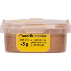 Cannelle moulue, pot 45g