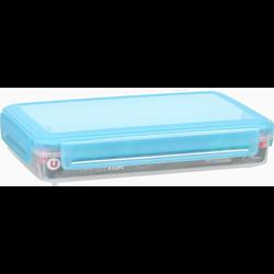Boîte hermétique U MAISON, rectangulaire, basse, 2,4 litres, couverclebleu translucide