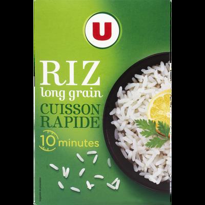Riz long grain étuvé 10 minutes U, étui vrac de 1kg