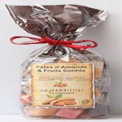 Pâtes d'amande et fruits confits, Chez Damaselles, 300g