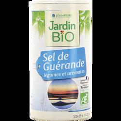 Sel Guérande aux légumes et aromates bio JARDIN BIO, boîte verseuse de 150g