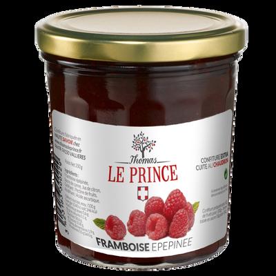 Confiture extra framboises épépinées THOMAS LE PRINCE, 350g