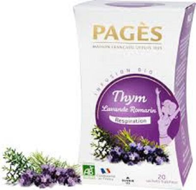 INFUSION BIO THYM LAVANDE ROMARIN BIO PAGES