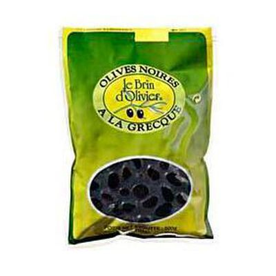 olives noires  à la grecque 500g le brin d'olivier