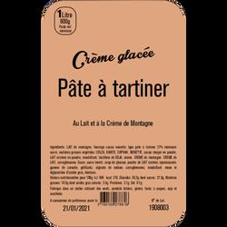 Crème glacée pâte à tartiner LA TURBINE A SAVEURS, 1 litre