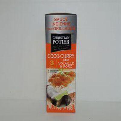 Sauce coco-curry CHRISTIAN POTIER sachets 3x50g