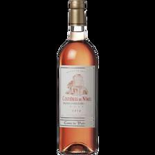 Vin Costières de Nîmes AOC rosé COMTE DE VALMONT, bouteille de 75cl