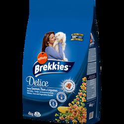 Croquette délice de poisson pour chat BREKKIES, paquet de 4kg