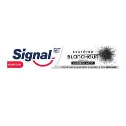 Dentifrice système blancheur charbon actif SIGNAL, tube de 75ml