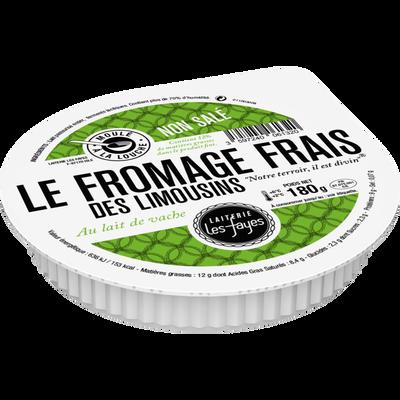 Fromage frais Val des Limousins lait pasteurisé, LAITERIE LE S FAYES,12% de MG, 180g