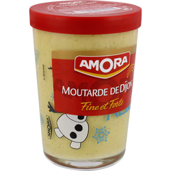 Moutarde forte de Dijon AMORA, verre de 195g