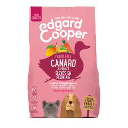 Croquettes naturelles sans céréales chiot canard poulet frais EDGARD&COOPER, 1kg