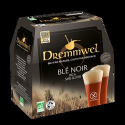 Bière Dremmwel noir bio, 5,4°, 6x25cl