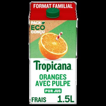 Tropicana Pur Jus Orange Avec Pulpe Tropicana, Brique De 1,5l