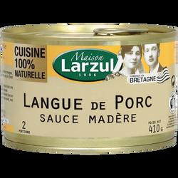 Langue de porc sauce Madère LARZUL, 410g