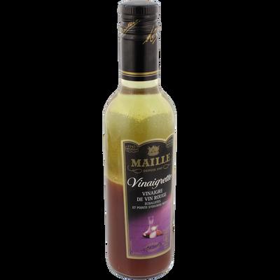 Vinaigrette au vin rouge échalote et petits oignons rouge MAILLE, bouteille de 36cl