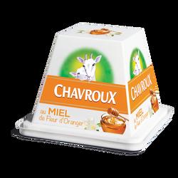 Fromage pasteurisé chèvre au miel 13%mg CHAVROUX pot 150g