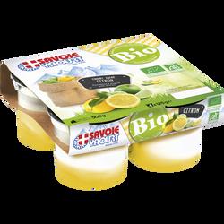 Yaourt bicouche bio citron SAVOIE YAOURT, 4x125g