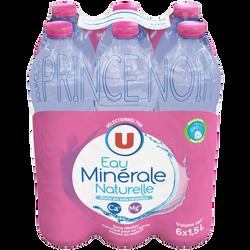 Eau minérale naturelle source prince noir U pack 6x1,5L