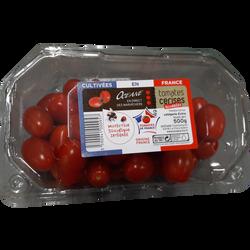Tomate cerise, segment Les cerises allongées, catégorie Extra, France,barquette, 500g