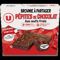 Brownie choco pépites U, 285g