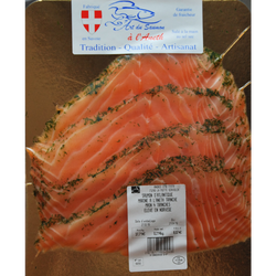 Saumon mariné à l'aneth 4 tranches ANDRIC, 200g