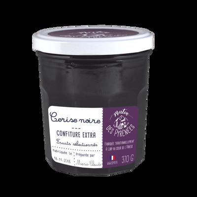 Confiture extra cerise noire MATIN DES PYRENEES, 370g