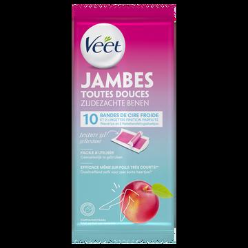 Veet Cire Froide Jambes Nectarine Veet, 10 Bandes