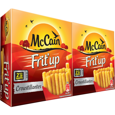 Club frit'up frites micro ondes MC CAIN, 2X90g, soit 180g