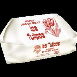 Beurre demi-sel moulé LES TULIPES, 500g
