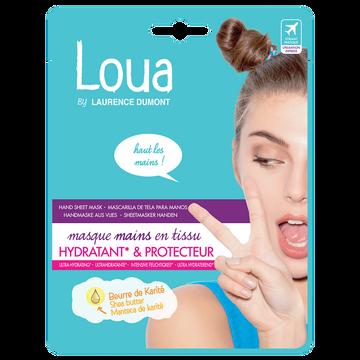 Laurence Dumont Masque Mains Tissu Ultra Hydratant Et Protecteur Loua, X1