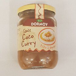 Sauce coco curry, DORMOY, le bocal de 280g