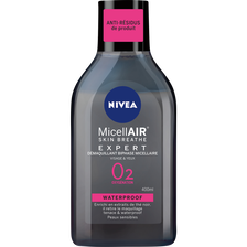 Démaquillant visage waterproof biphase micellaire NIVEA, flacon de 400ml