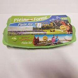 12 Oeufs Plein Air Pleine Forme Source d'oméga 3