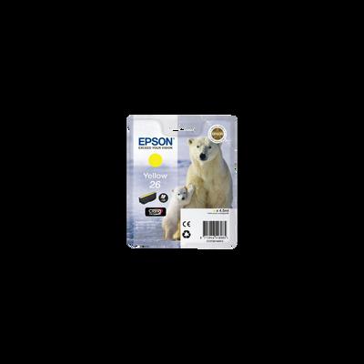 Cartouche d'encre EPSON T2614, jaune, Ours Polaire, sous blister