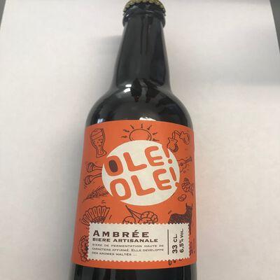 Bière artisanale ambré OLE OLE Mas Marignane 6.5° 33cl