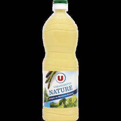 Vinaigrette nature allégée en matières grasses U, bouteille de 1 litre
