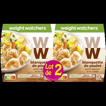 WeightWatchers Blanquette De Poulet, Petits Légumes Et Riz Créole Weight Watcher, 2x300g Soit 600g
