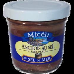 Anchois au sel sans peau MICELI, 150g