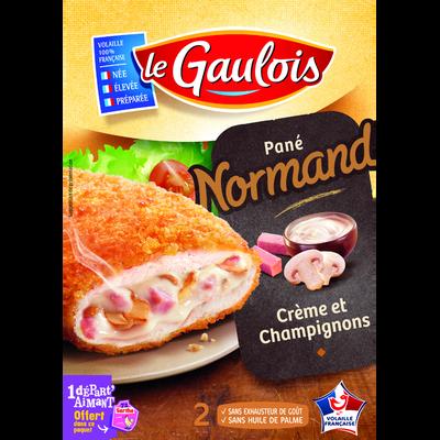 Pané de volaille recette Normande, LE GAULOIS, 2 pièces, 200g