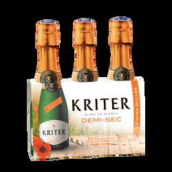 Mousseux demi-sec KRITER, 3x20cl