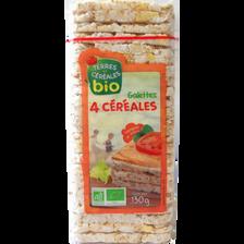 Galettes fine aux 4 céréales bio TERRE ET CEREALES, paquet de 130g