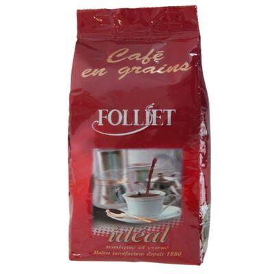 Café idéal en grains FOLLIET, paquet de 250g